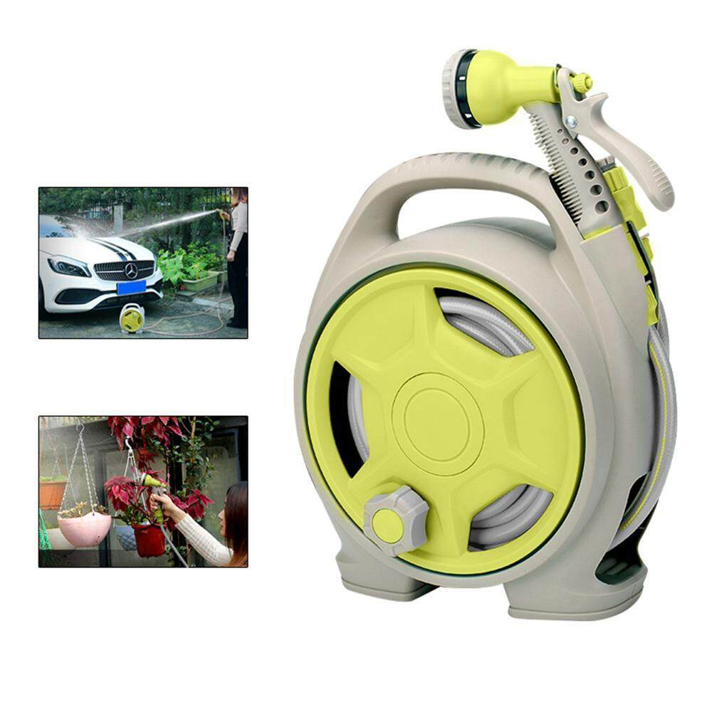 Outflety Water Hose Reel, Mini Water Pipe Car Automatic Garden Hose Reel Retractable And Spray Nozzle With 13m Hose For Car Wash Watering Shower Pet By Outflety.