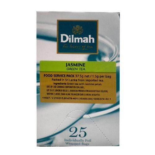 DILMAH JASMINE G.TEA 50G/2G*25TB