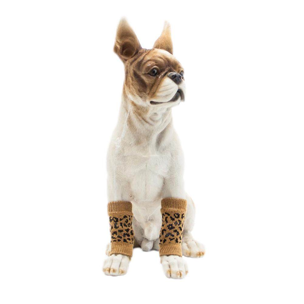 Big House 4pcs/set Pet Kneecap Socks Leg Protector Injury Foot Protective Sleeve Protect Wounds For Pet Supplies Stype:leopard Print(m) By Big House.
