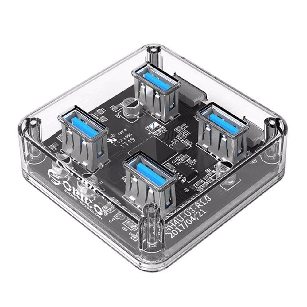 RICO USB 3.0 HUB 4 Ports High Speed USB Splitter Power Charging Interface For Windows Mac Linux Laptop PC USB White