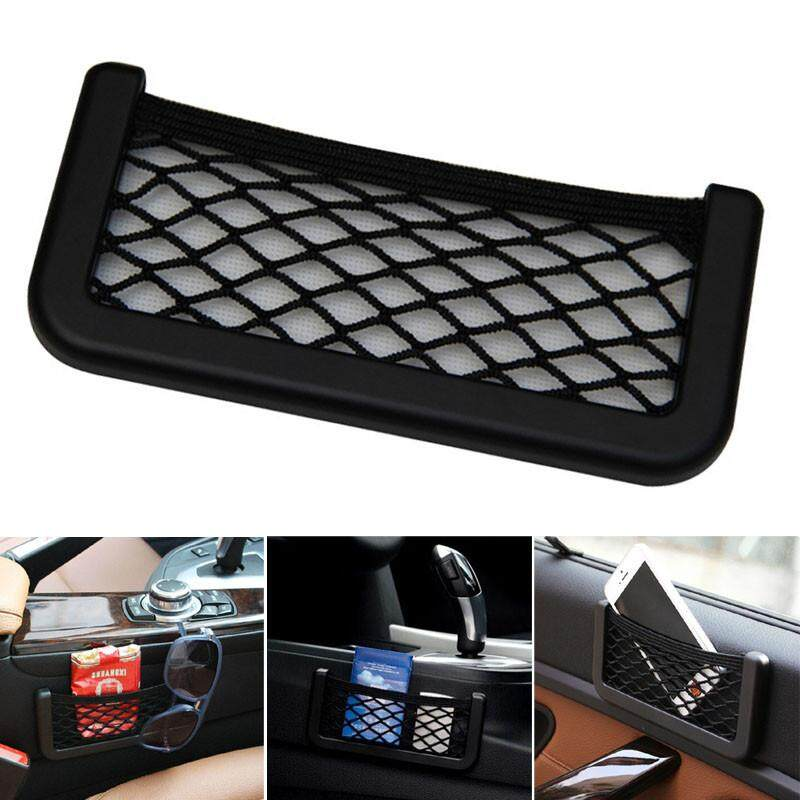 New Car Universal Resilient Seat Storage Net Bag Holder Pocket Organizer By Calvinstore.