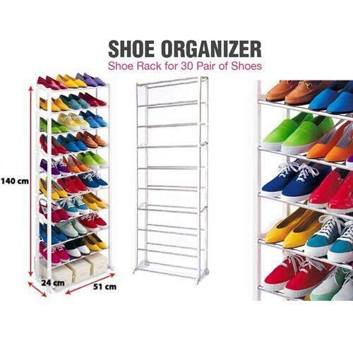 10 Tier - 30 Pairs Shoe Storage Amazing Shoe Rack