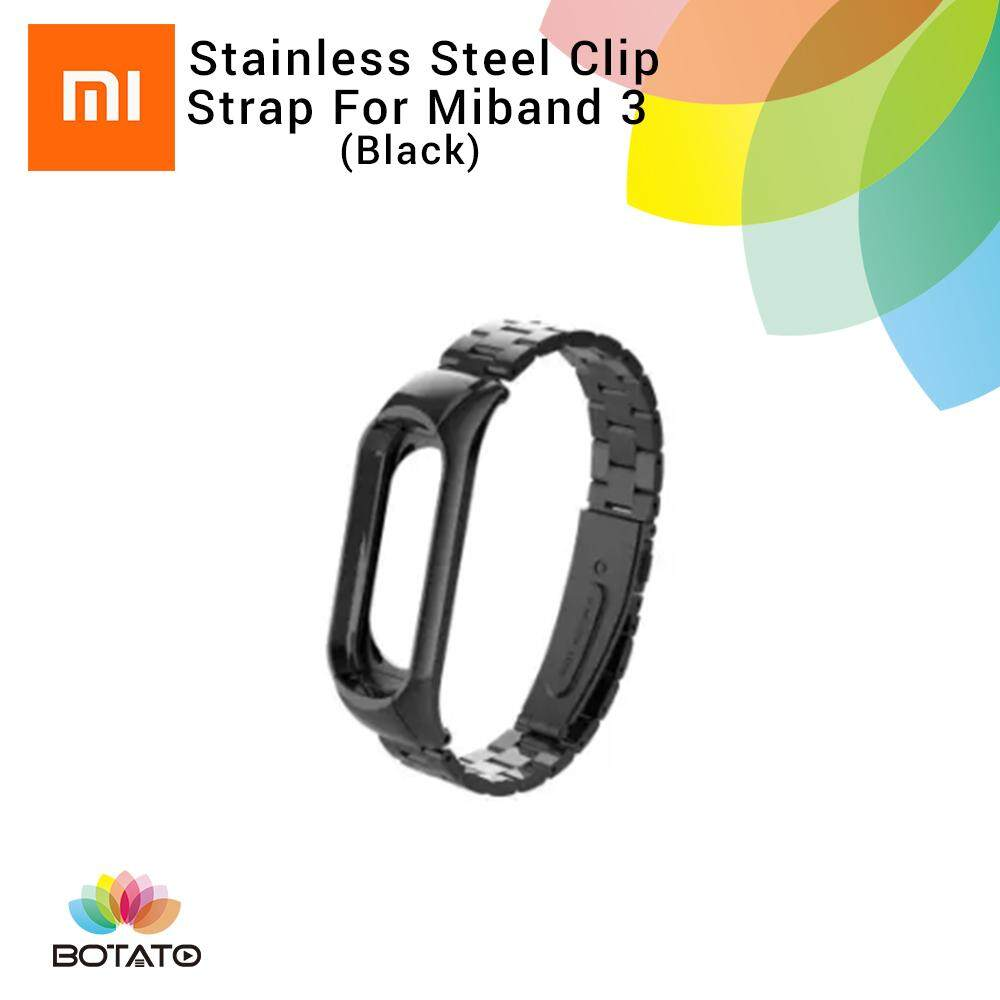*Strap only* [[Stainless Steel Clip Strap]] for Xiaomi Mi Band 3 [[Botato Electronic]]