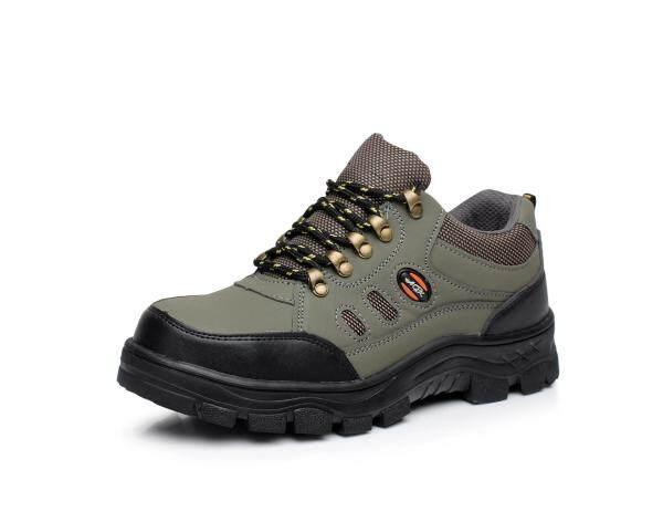 Giày Bảo Hộ Mũi Thép Giày Da An Toàn Thoáng Khí Chống Va Đập Chống Xuyên Thủng Mùa Xuân Và Mùa Hè