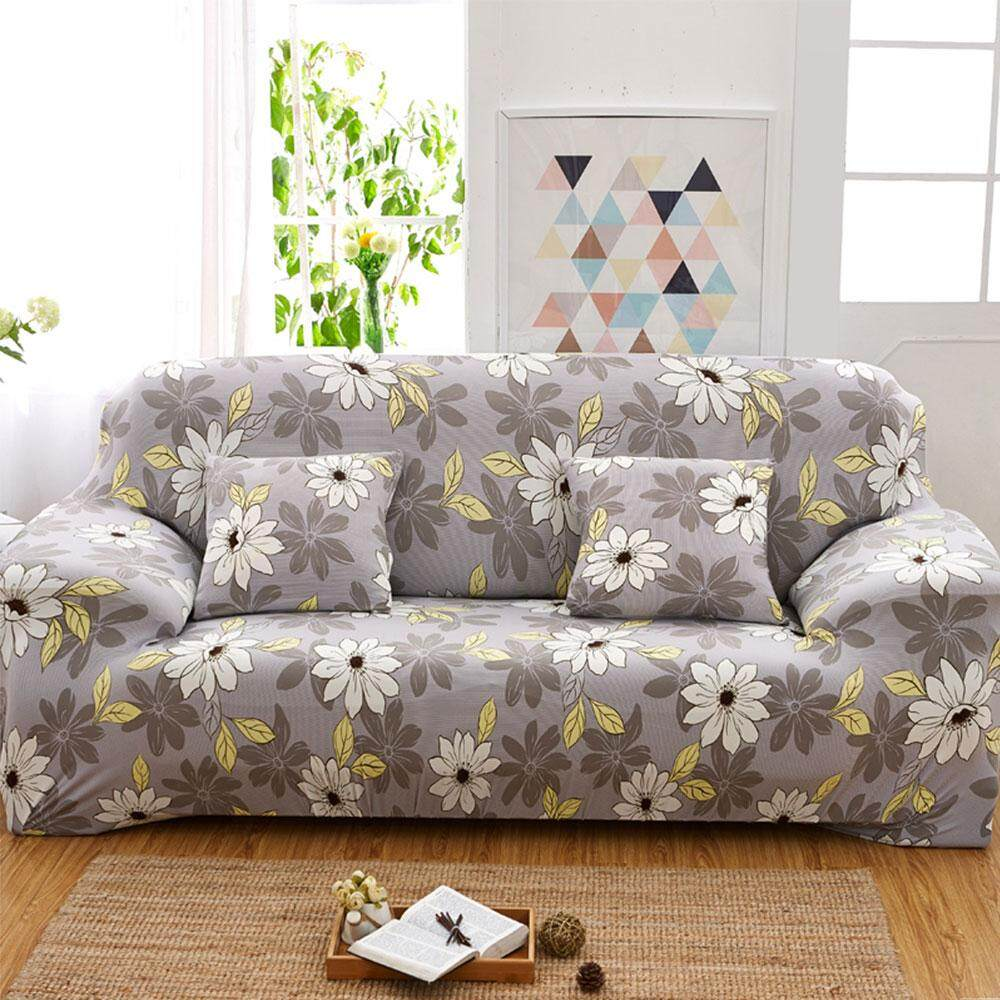 Womdee Home Living European Style Floral Printed Sofa Cover 2 Person Sofa Elastic Cover,Cushion Cover Not Included(2 Person,145-185cm) - intl