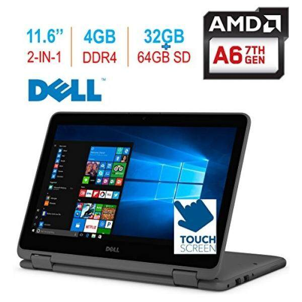 2018 Dell Inspiron 11 3185 11.6 2-in-1 HD Touchscreen Laptop/Tablet PC, 7th Gen AMD A6-9220e up to 2.9GHz, 4GB 2400MHz DDR4 RAM, 32GB eMMC + 64GB SD, HDMI, WiFi, Bluetooth, MaxxAudio, Windows 10