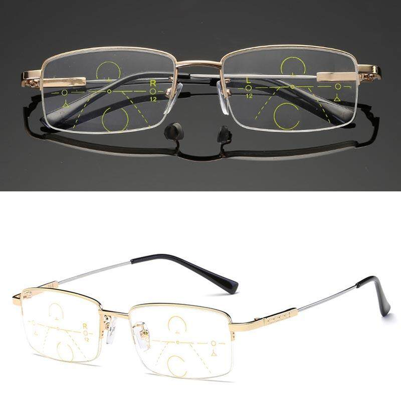 YBC Presbiopia Kacamata Baca Progresif Multifokal Lensa Anti Kelelahan Kacamata (300 °)-Internasional