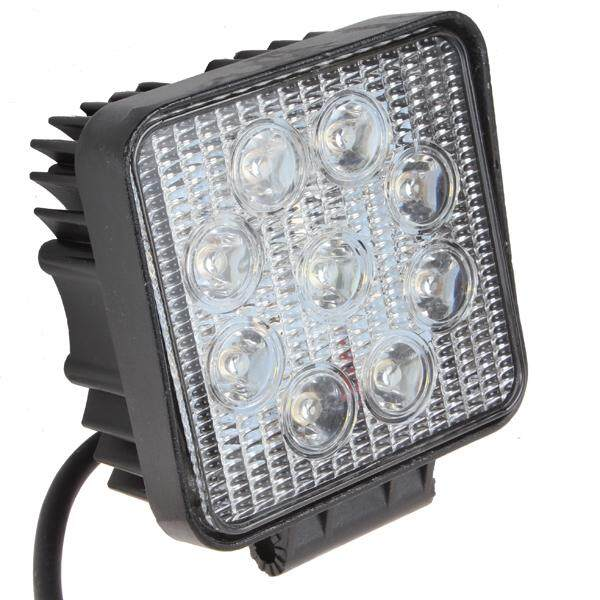 27W 4 Inch Square LED Work Light for Indicators Motorcycle Offroad Boat Car Tractor Truck