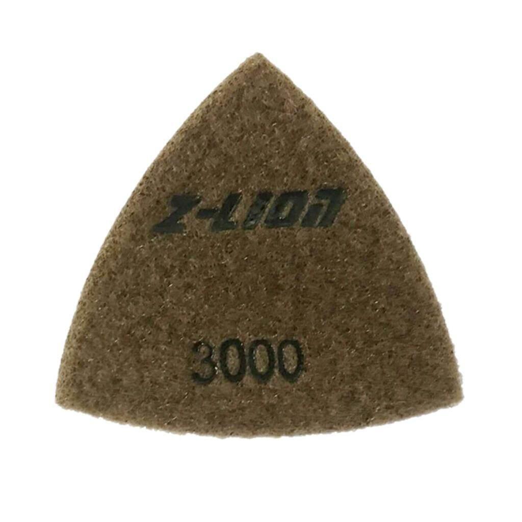 MagiDeal Triangular Diamond Polishing Pads For Granite Marble Concrete 80mm 3000#