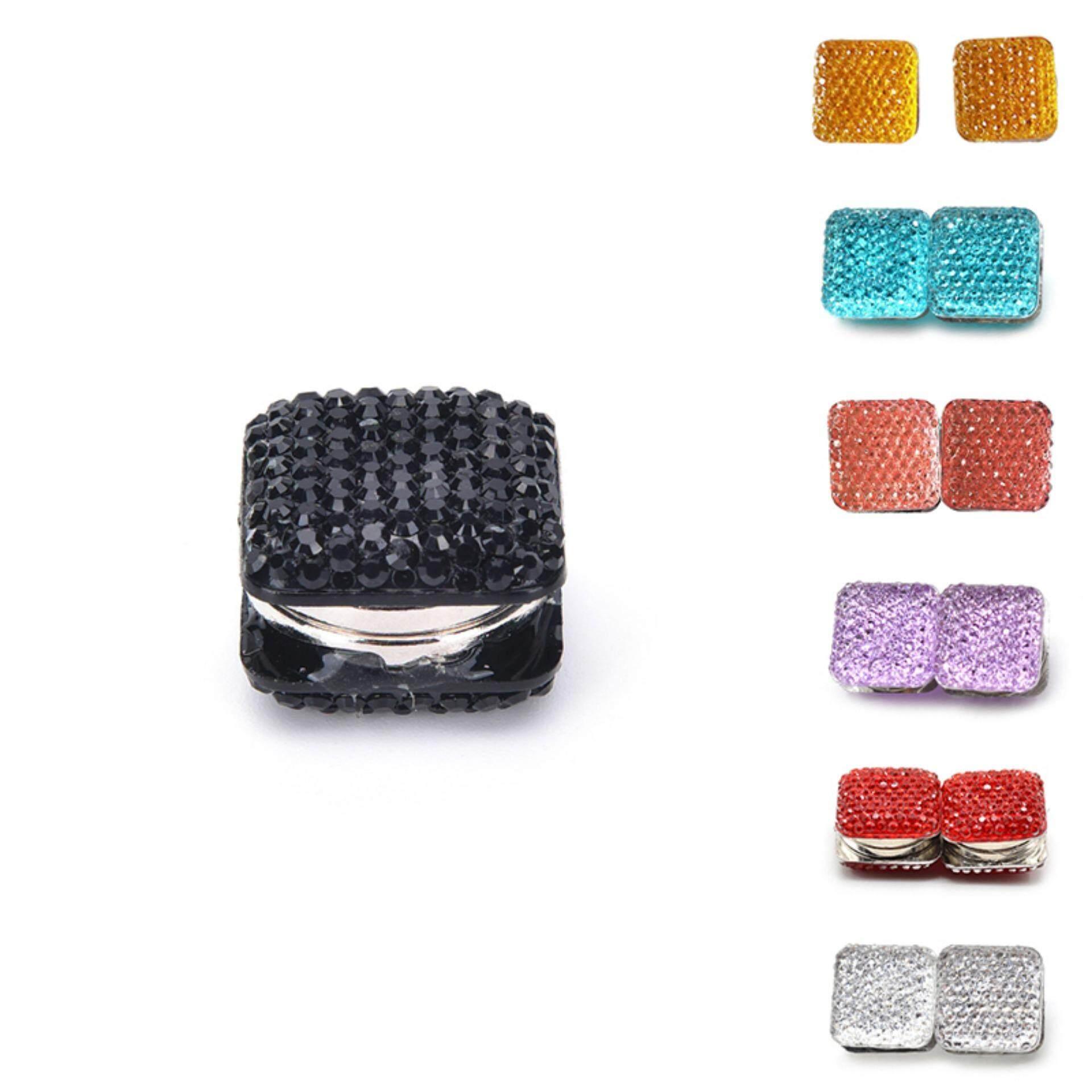 Magnet Yang Kuat Hijab Pin Jilbab Abaya Bros Gesper Selendang Syal Kristal Hadiah-Intl