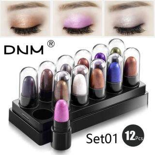 Lion DNM 12 Mutiara Kecil Pensil Eyeshadow Kotak Kombinasi untuk Tahan Lama Tahan Air thumbnail