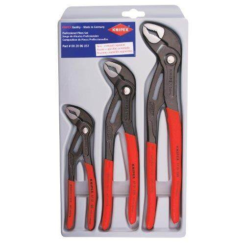 KNIPEX Tools 00 20 06 US1, Cobra Pliers 7, 10, and 12-Inch Set, 3-Piece - intl