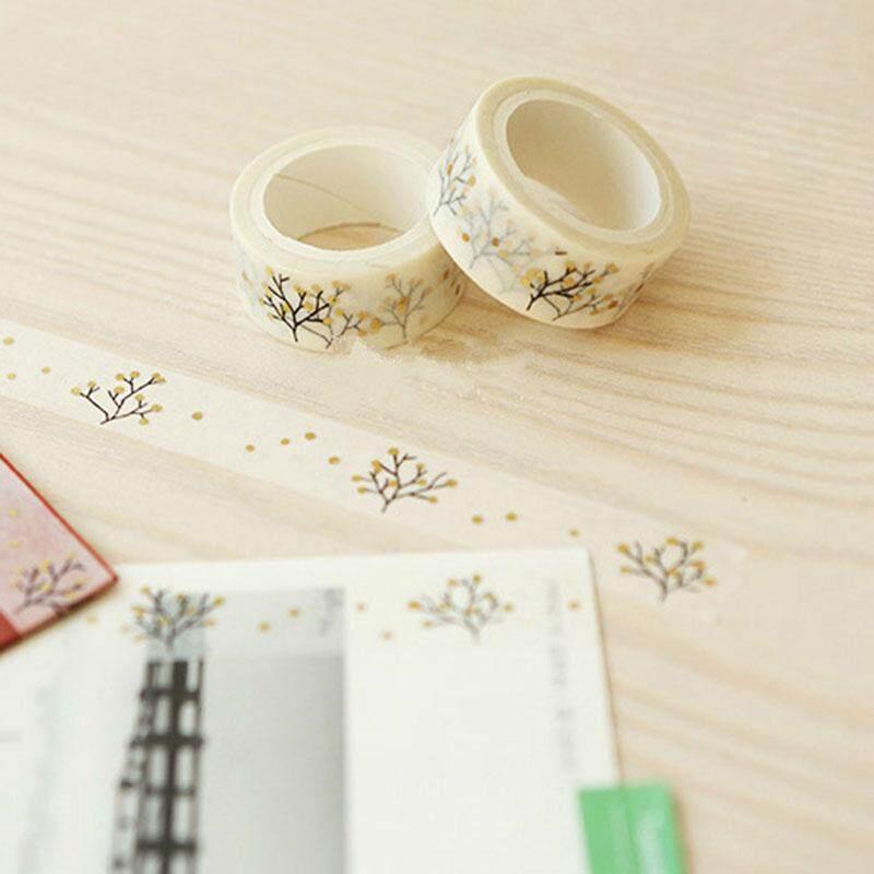 Mua 2rolls 1.5cmx5m Kawaii Gold Wishing Tree Decorative Washi Tape DIY Scrapbooking Masking Tape School Office Supply Escolar Papelaria - intl