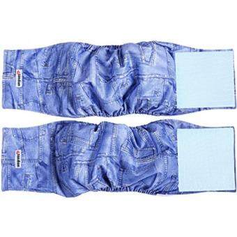 "การตรวจสอบของ Wegreeco Jeans Washable Male Dog Diapers (Pack of 2) - Washable Male Dog Belly Wrap (X-small - 11""- 13"" Waist) - intl ซื้อ - มีเพียง ฿1,823.76"