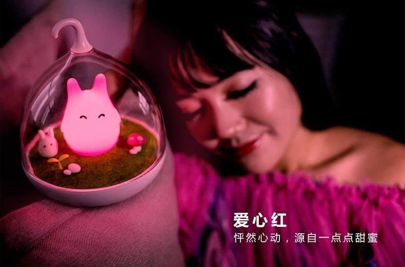 LED Pink Totoro Lamp