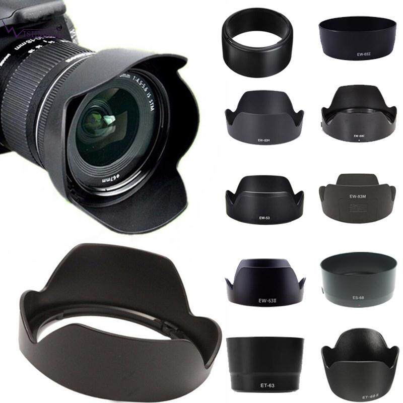 Wishmall EF-S 55-250mm IS Canon ET-60II Lens Shade Lens Cover Lens Hood Black