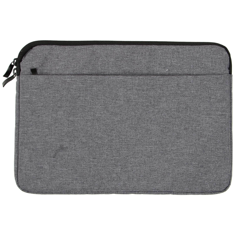 Sarung Kanvas Laptop Tas MacBook Air 11/12 Inci Ritsleting Case untuk Mac untuk Lenovo Mouse Laptop Tablet Tas Kantung Kecil Cover (Abu-abu Tua)-Intl