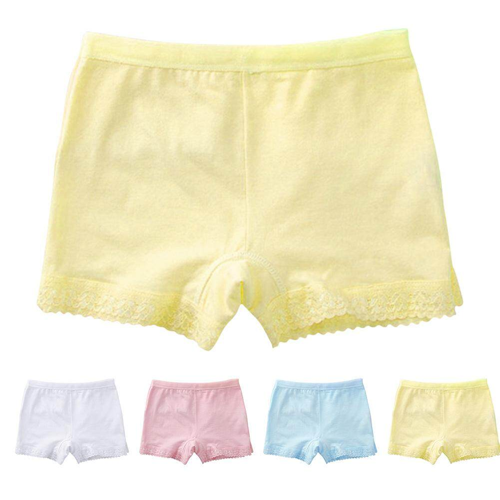 4 Pack Little Girls Cotton Boyshorts Lovely Boxers Underwear Size 2-10 Years By Sawu.