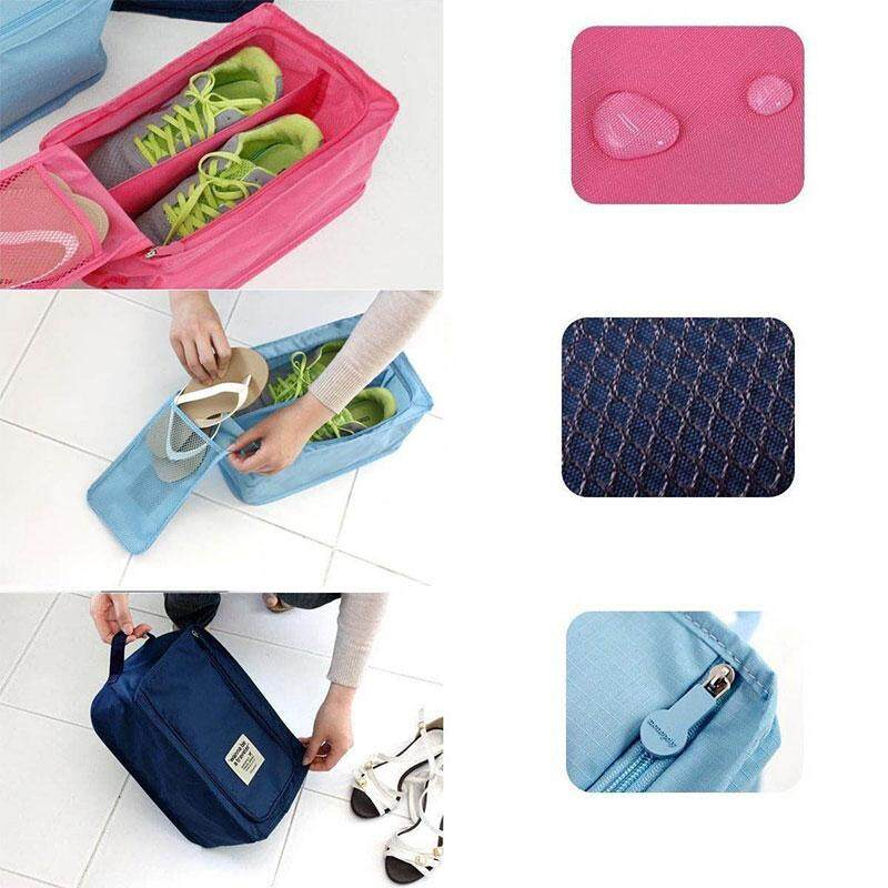 Rp 58.000. Clearance sale Travel Shoe Waterproof Portable Practical Organizer Storage Bag Box ...
