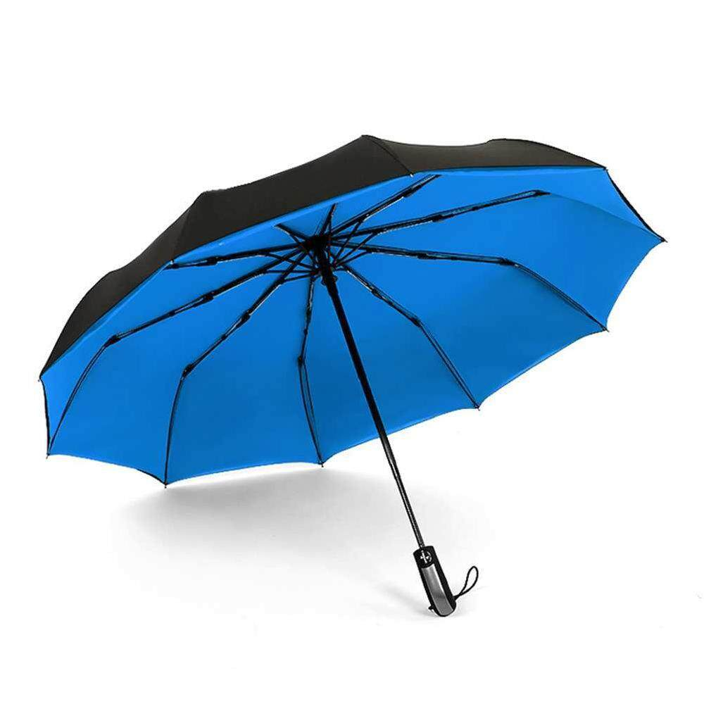 Wuli ใหม่ Big Strong Windproof แฟชั่นผู้ชายและผู้หญิงอ่อนโยนพับกระชับอัตโนมัติเต็มรูปแบบ Rain ร่มคุณภาพสูงชุดสำหรับ 1-2 คน By Wuli.