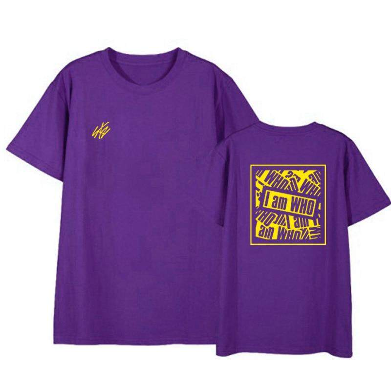 Kpop Straykids Aku Adalah Album Fan Club Street Snap Album Kemeja Uniseks Hip Hop Kasual Longgar Pakaian Tshirt T Lengan Pendek Kaos Atasan t-shirt untuk Pria dan Wanita DX802