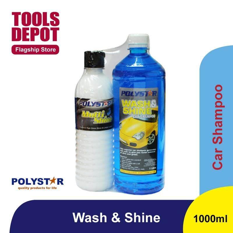 Polystar Wash & Shine Car Shampoo (1L) + Multi Shine (500ml)
