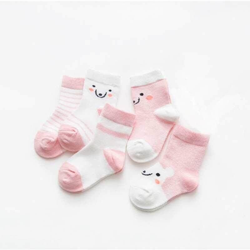 37fc94895174 5 Pairs Lovely Baby Girl Socks Children s Sets Baby Newborn Gift Stripe  Breathable Summer Socks For