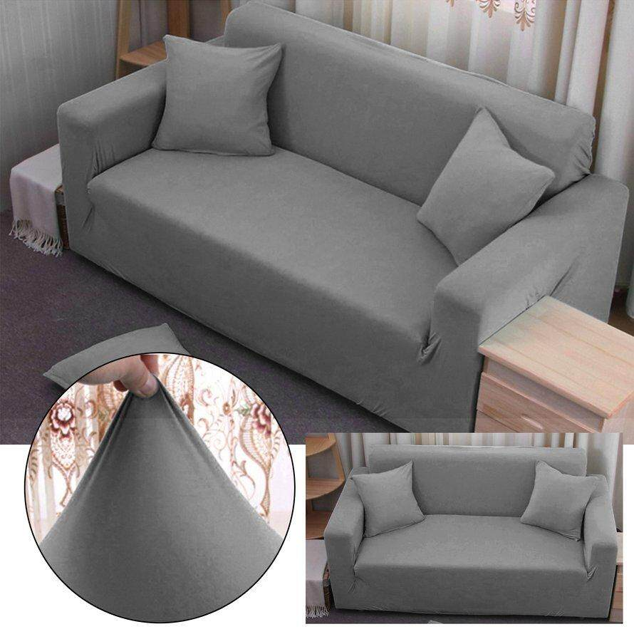 OSMAN Elastic Polyester Sofa Cover Pure Color Stretch Slipcover Flexible Couch Cover 3 Seater 3Pcs Free Shipping