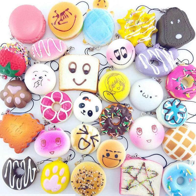 Detail Gambar 10 20 30 Pcs Multicolor Jumbo Medium Mini Acak Panda  Squishy Roti Kue Roti Donat tali Telepon-Intl Terbaru 079e822e82