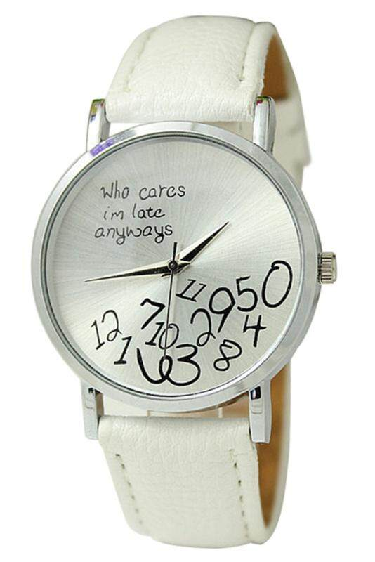 Arab numerals Leatherlet watches Quartz Analogue, Rosa, Unisex Watches, white