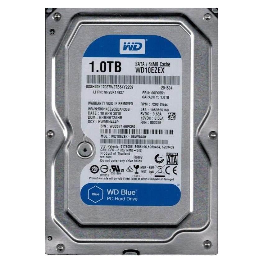 Official Western Digital WD Blue 1000GB / 1TB Internal 3.5 Sata Hard Drive 7200RPM For Desktop PC