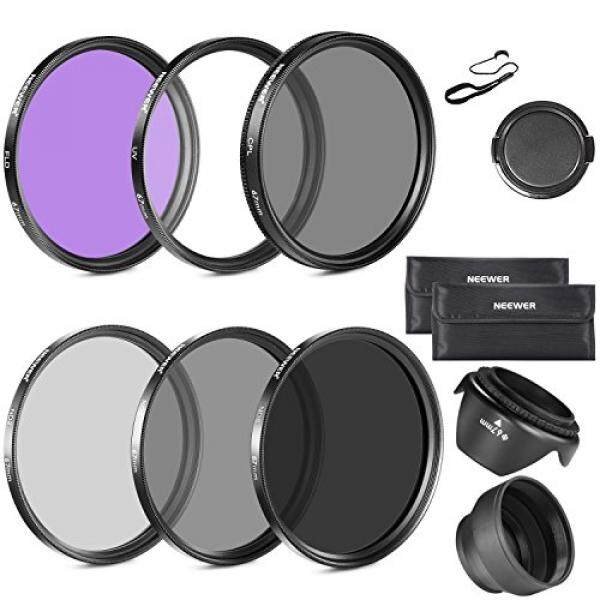 Neewer 67MM Lens Filter Kit:UV,CPL,FLD,ND2,ND4,ND8 and Lens Hood for CANON Rebel T5i T4i,EOS 700D 650D DSLR Camera with 18-135MM EF-S IS STM Zoom Lens