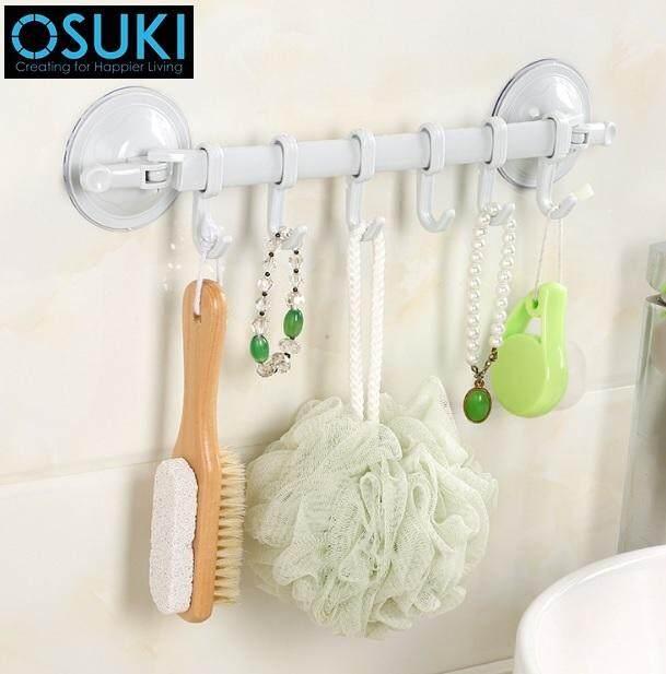 OSUKI Creative Powerful Sucker Hook For Bathroom Wall (Blue)