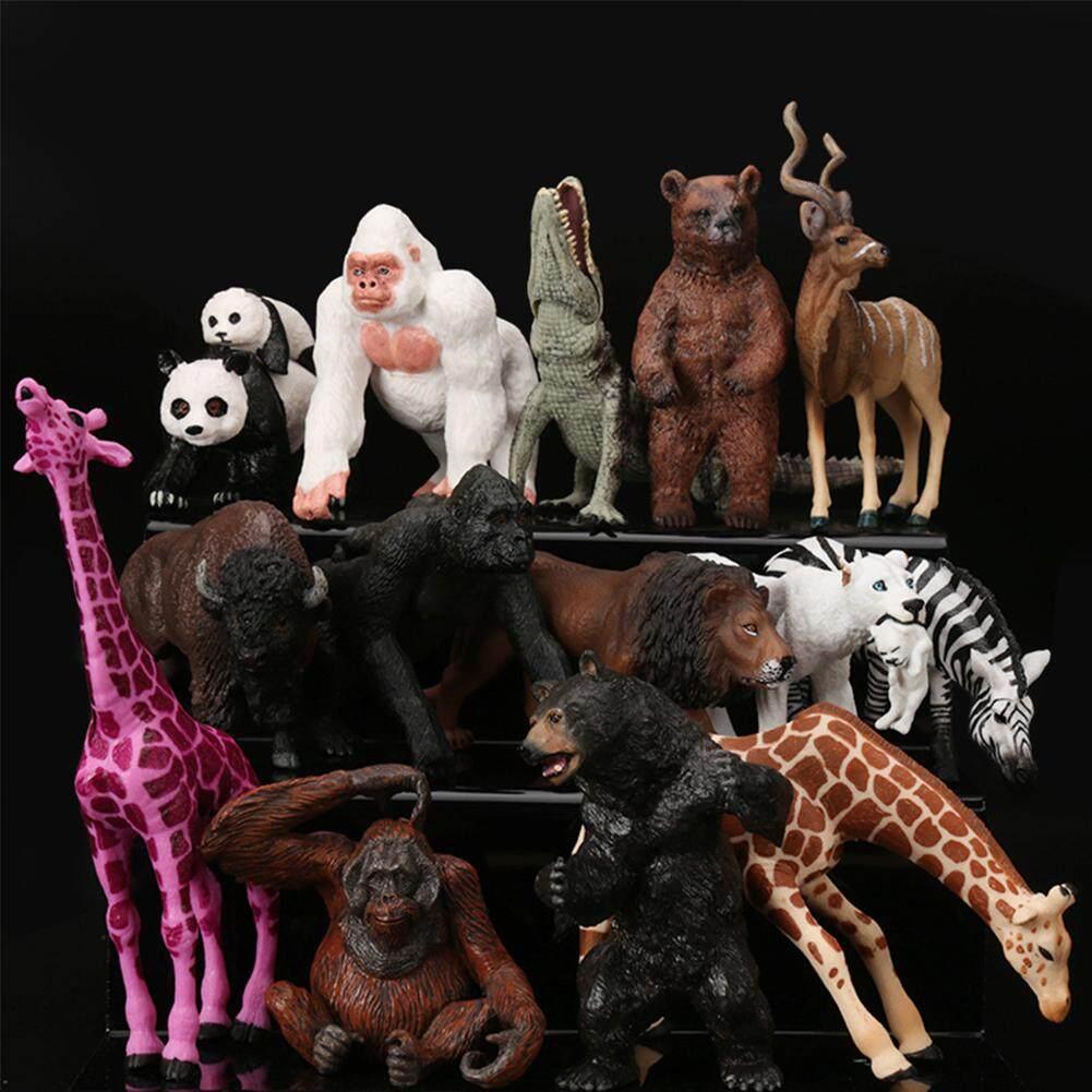 MQ Vườn Thú Mini Động Vật Hoang Dã Nhân Vật Hành Động Tượng Hình Đồ Chơi Trẻ Em như Trẻ Em Quà Tặng