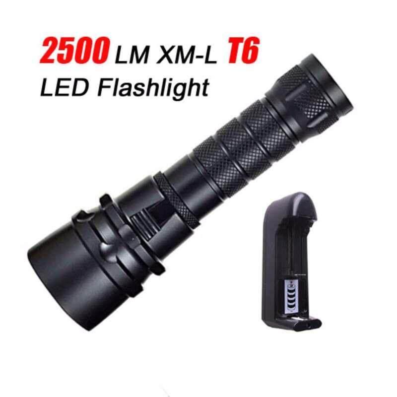 100m 2500lm Xm-L T6 Led Scuba Diving Flashlight Torch Underwater Lightlamp + Eu Charger By Shenzhen Wen Zhuang Technology Co Ltd.