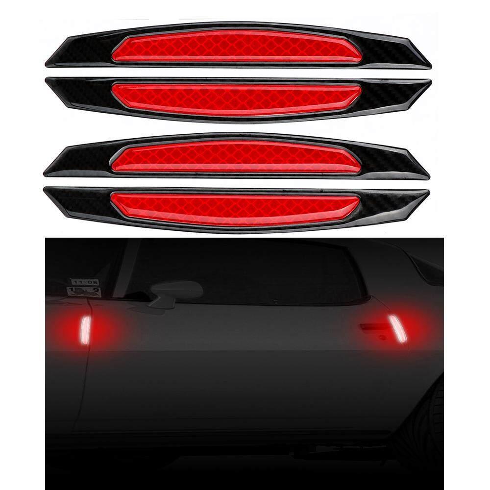 Anti-Tabrakan Aksesoris Eksterior 4 Pieces/pack Pelindung Pintu Mobil Stiker Peringatan Keselamatan Mark
