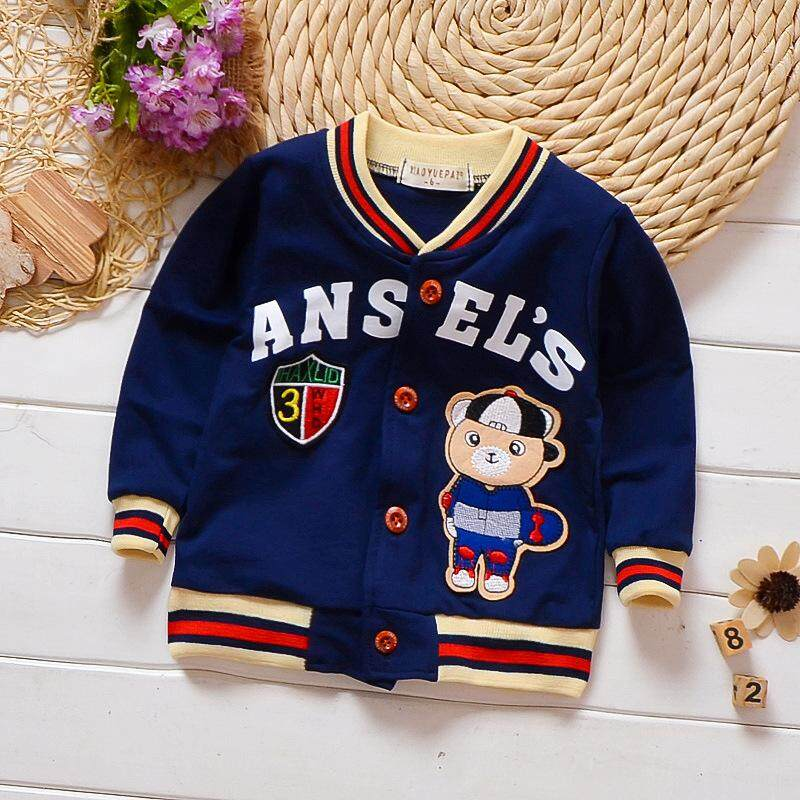 Ready Stock Spring And Autumn Pure Cotton Baby Boys Clothes Jacket Baseball Coat By Ciliang Happy Time Store.