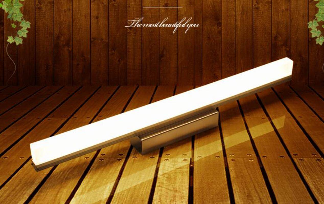 SunnyShop【Free Shipping】Water and Fog Resistant  LED Mirror Front Lamp 9W 39CM White