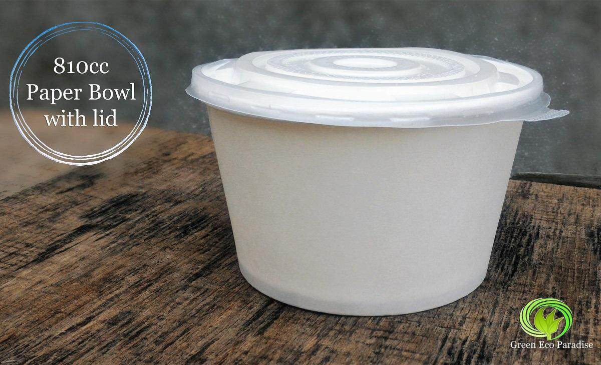 810cc Paper Bowl [White] 1000 pieces/carton