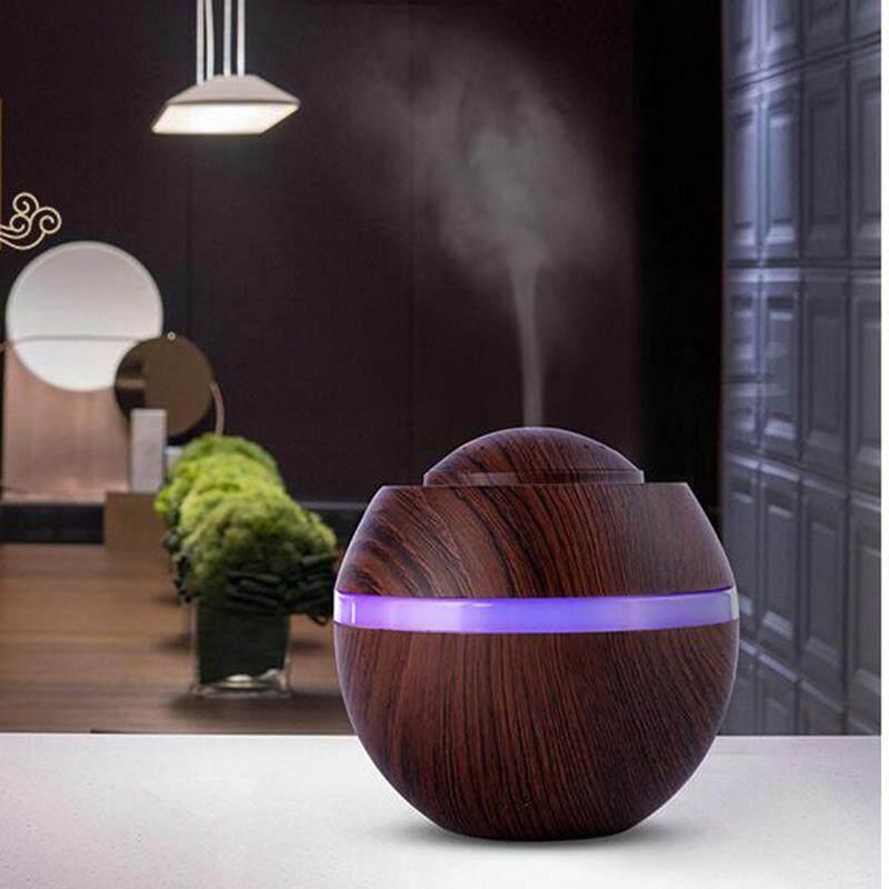 Grtco 500 Ml Minyak Esensial Aroma Diffuser USB Ultrasonik Air Humidifier dengan Kayu