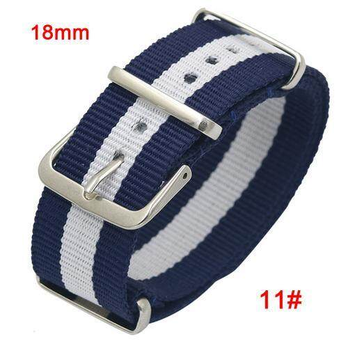 18mm 20mm 22mm Ballistic Durable Military Nylon Watch Band Army Sports Nato Fabric Nylon Watchband Accessories For 007 James Bond Watch Strap By Huanjunshi.
