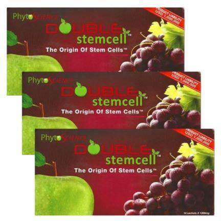 3x PHYTOSCIENCE Double Stemcell Anti Aging Supplement [42 sachets] Exp May 2020