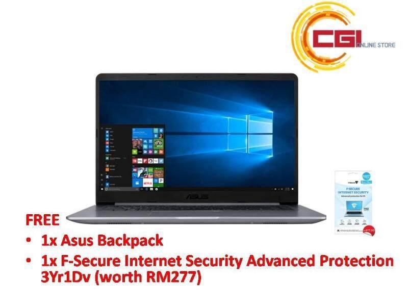 Asus Vivobook A510U-FEJ139T 15.6 Laptop - Grey (i5-8250U,4GB,1TB,NVD MX130,W10) Malaysia