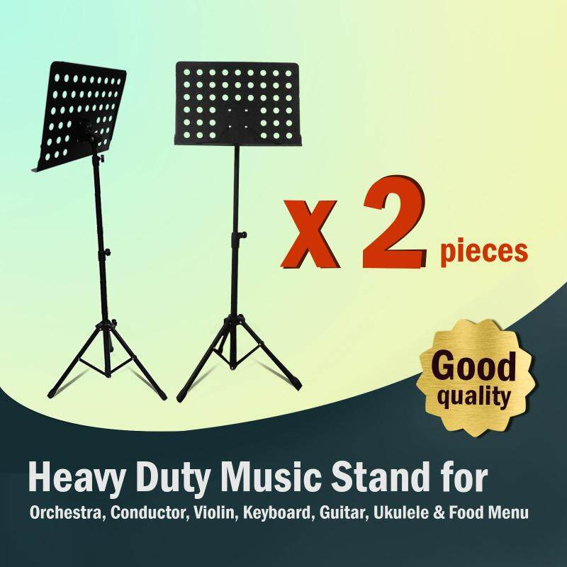 [2 in 1 Value Pack] Heavy Duty Music Stand for Orchestra, Conductor, Violin, Keyboard, Guitar, Ukulele & Food Menu (High Quality) Malaysia