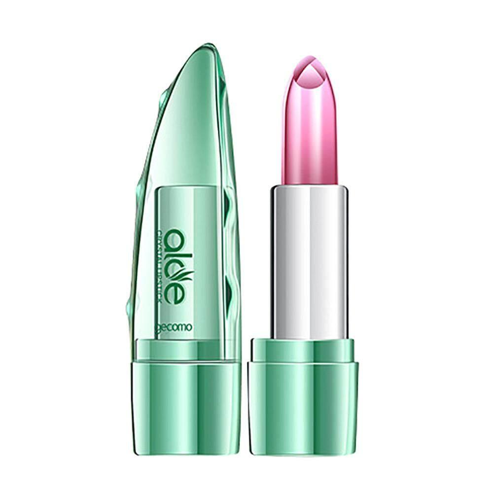 Organic Aloe Vera Jelly Lipstick Change Color Temperature Moistourizing Lip - intl