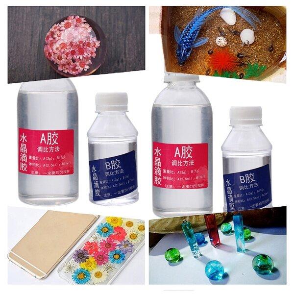 Epoxy Resin Transparent Resin Crystal DIY Soft Glue Clear