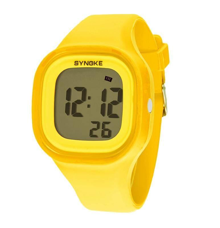 Synoke 1 ชิ้น Led นาฬิกาดิจิตอลซิลิโคนกันน้ำกีฬานาฬิกาสำหรับเด็กเล็กเด็กหญิงเด็กชาย (สีเหลือง) - Intl By Sillyshuai.