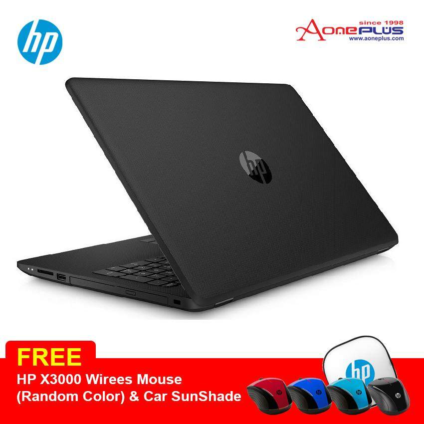 HP 14-bs077TX (Black) i3-6006U/1TB HDD/AMD R5-M520-2GB/14.0 Laptop + FREE HP X3000 Wireless MOuse  (Random Color) & Car sunshade Malaysia