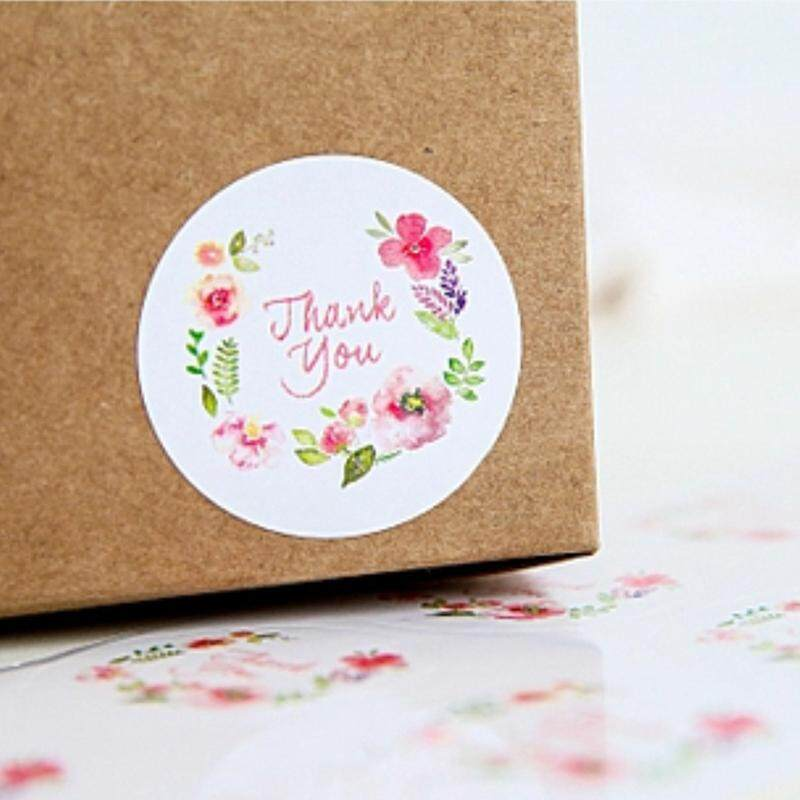 Mua 100pcs 3.5cm Flower Design Sticker Labels For Creative Paper Stickers Thank You Seals For Gifts