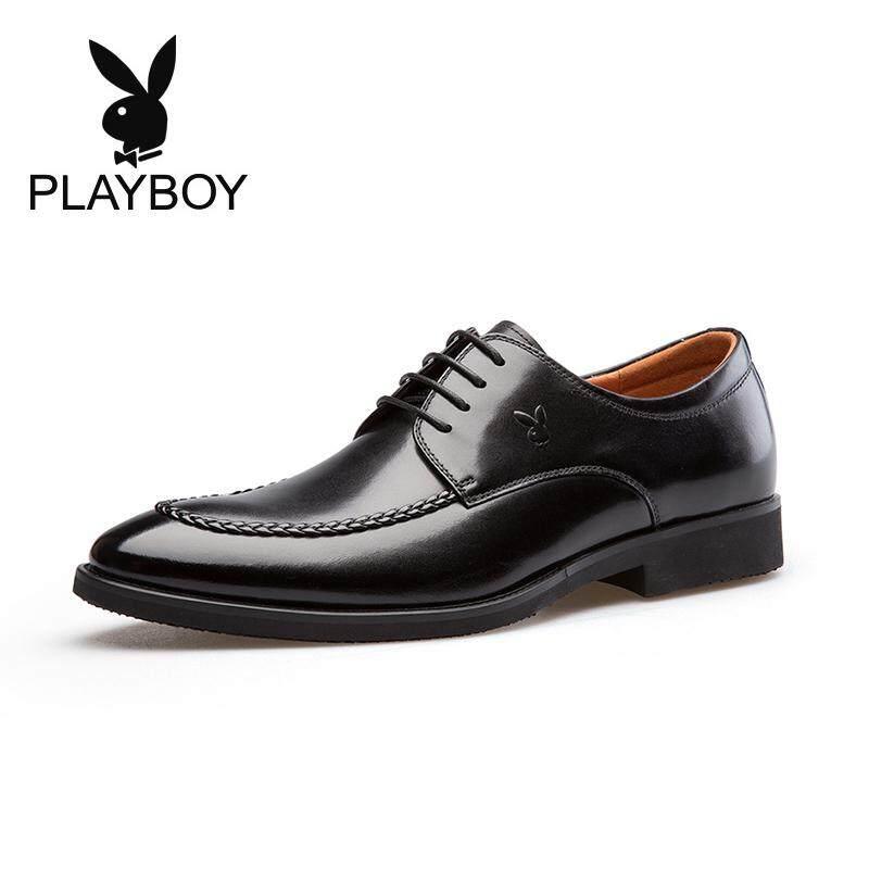 PLAYBOY sepatu pria musim gugur Kulit asli Gaya Korea sepatu pernikahan  Inggris formal Sepatu Kulit Pria 3fed4951bf